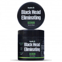 HealthVit Activated Charcoal Black Head Eliminating Scrub