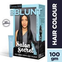 BBLUNT Salon Secret High Shine Creme Hair Colour - Black Natural Black 1