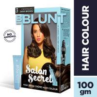 BBLUNT Salon Secret High Shine Creme Hair Colour - Chocolate Dark Brown 3