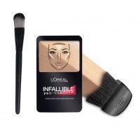 L'Oreal Paris Infallible Pro Contour Palette - 814 Medium + Free Makeup Brush