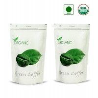 NutraVigour Organic Green Coffee Beans (Decaffeinated & Unroasted) (Pack Of 2)