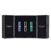 L'Oreal Paris x Balmain Makeup Box Of 3 Lipsticks - 356 Confidence + 468 Liberation + 650 Power