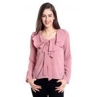 Twenty Dresses The Classic Ruffled Pink Top