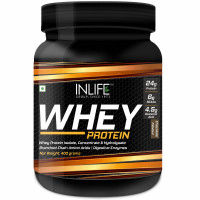 INLIFE Whey Protein Powder Body Building Supplement Chocolate 400gm