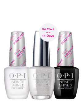 O.P.I Infinite Shine 3 Step Set - Silver On Ice