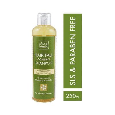 AuraVedic Hair Fall Control Shampoo with Brahmi Amla Bhringraj Shikakai  (250ml)