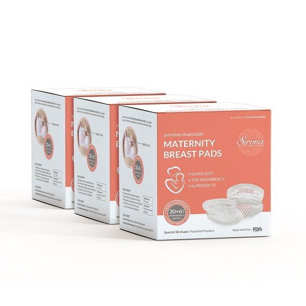 Sirona Premium Disposable Maternity Breast Pads - 36 Pads ( Pack of 3)