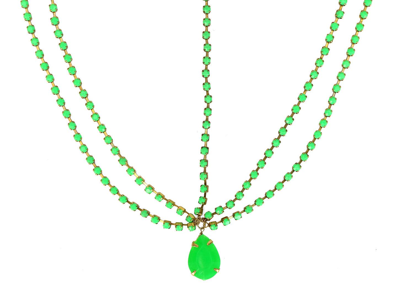Hair Drama Company Princess Head Chain - Green
