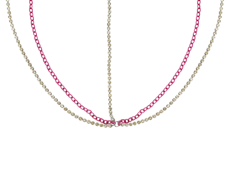 Hair Drama Company Jasmine Head Chain - Pink & Crystal