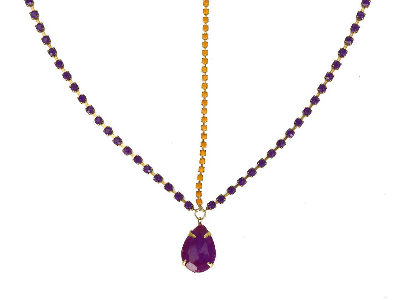 Hair Drama Company Princess Head Chain - Purple & Orange