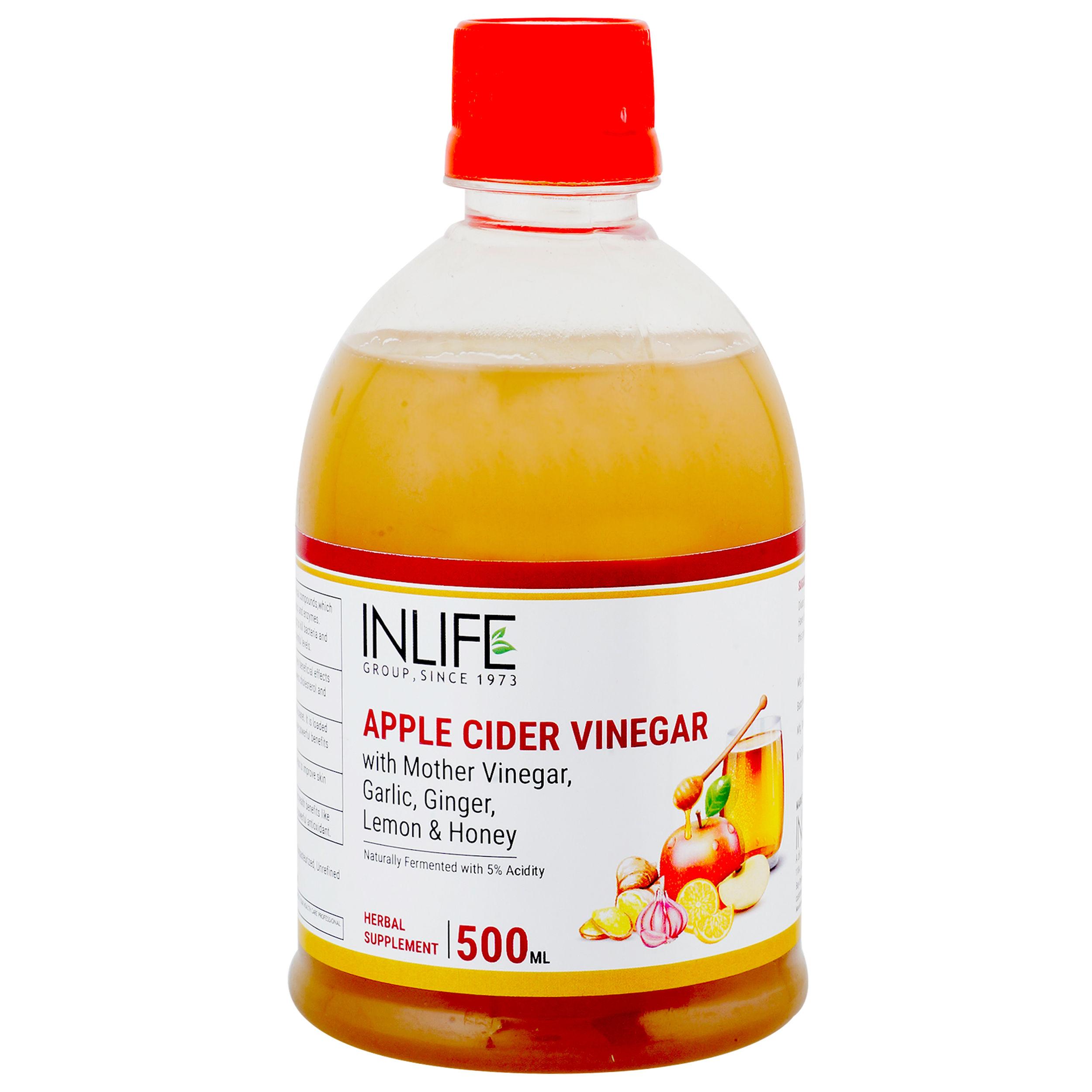 INLIFE Apple Cider Vinegar With Mother Of Vinegar, Garlic, Ginger, Lemon & Honey