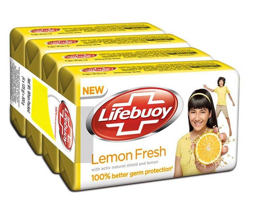 Lifebuoy Lemon Fresh Soap Bar Pack Of 4 Save Rs. 14