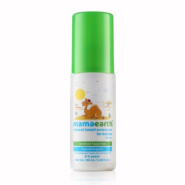 Mamaearth Mineral Based Baby Sunscreen, 100 ml (0-5 Yrs)