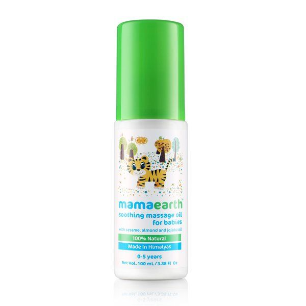 Mamaearth Soothing Baby Massage Oil, 100 ml (0-5 Yrs)