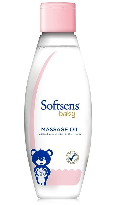 Softsens Baby Massage Oil with Vitamin E and Olive Extracts