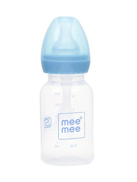 Mee Mee 2 In 1 Baby Feeding Bottle With Spoon - Blue