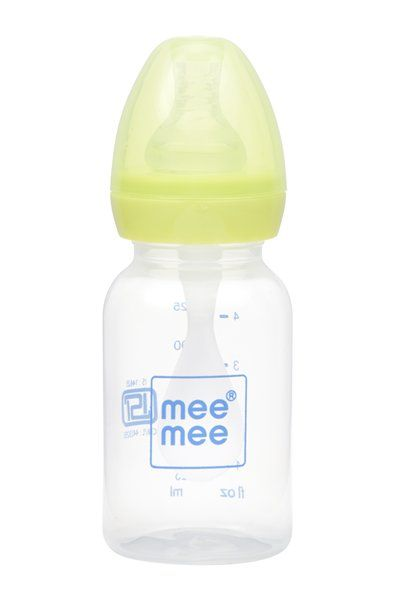 Mee Mee 2 In 1 Baby Feeding Bottle With Spoon - Green
