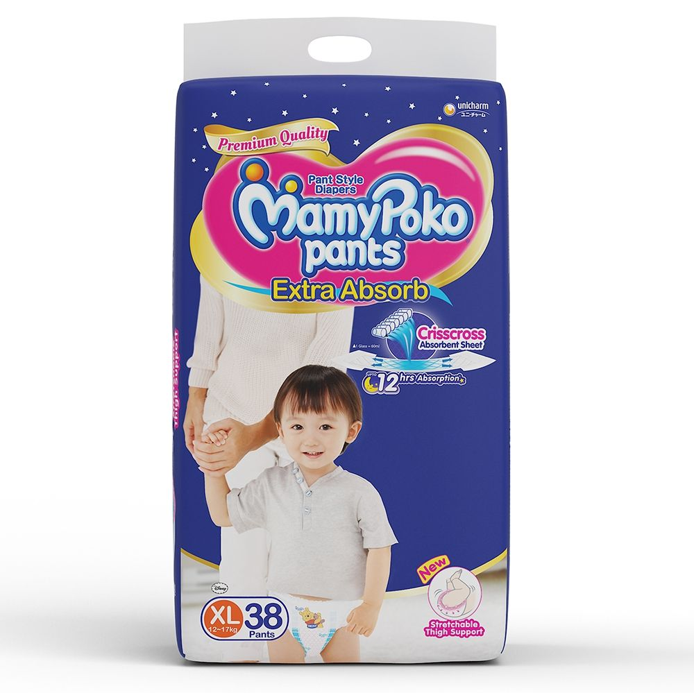 Mamy Poko Extra Absorb Pant Style XL Diapers (40 Pieces)