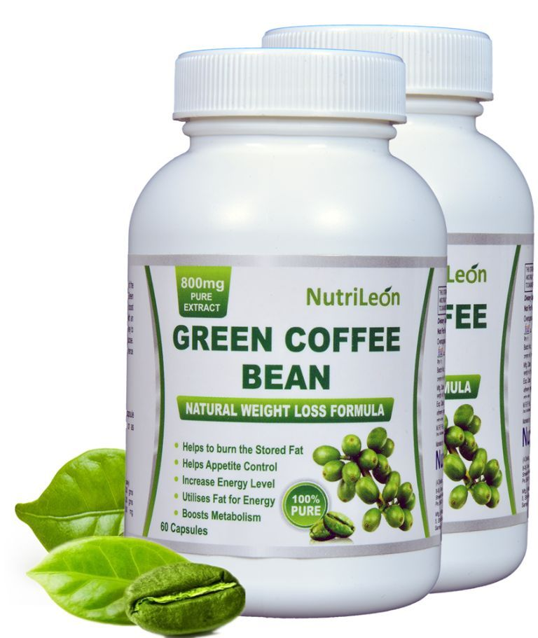 NutriLeon Green Coffee Bean Pure Extract 800mg Capsules (Pack of 2)