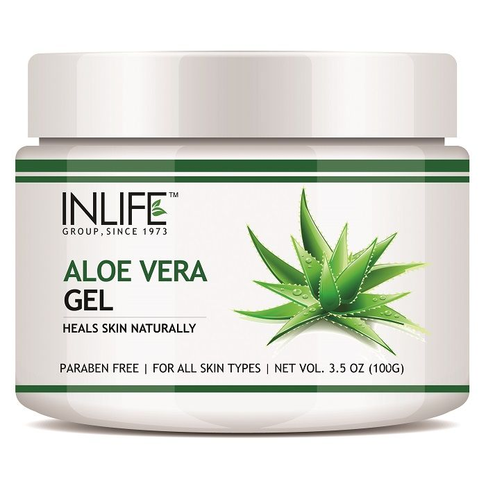 INLIFE Natural Aloe Vera Face Gel 100gm, Anti Ageing Moisturizer, Paraben Free