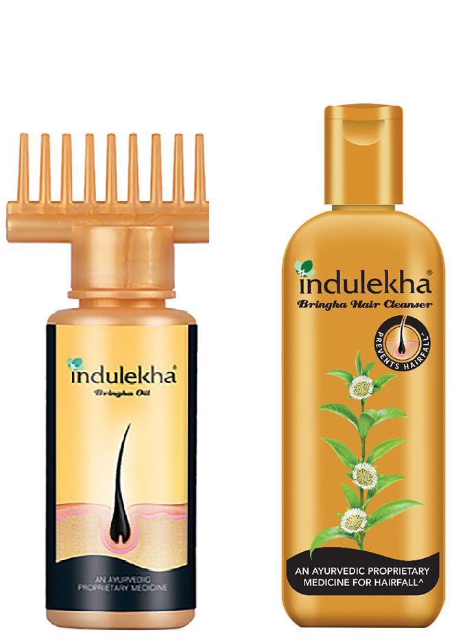 Indulekha Bringha Anti-Hairfall Shampoo + Bringha Hair Oil (100ml)