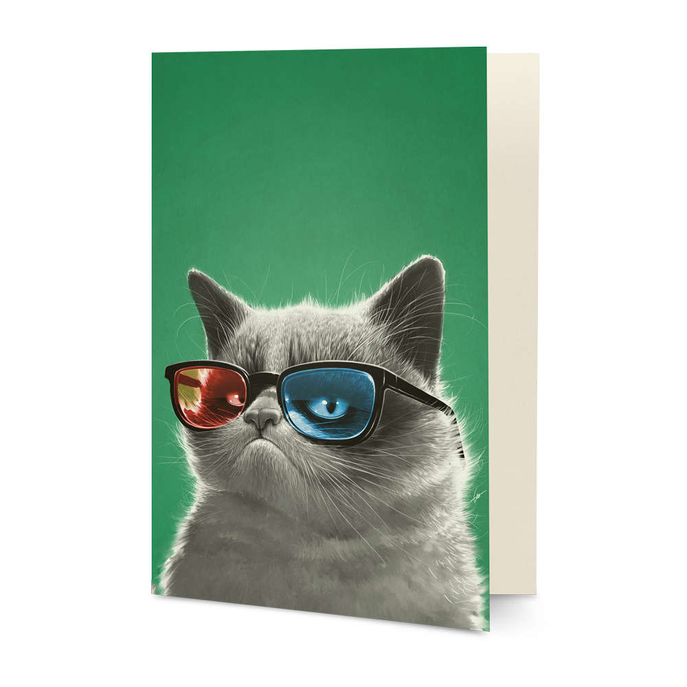 DailyObjects 3D Grumpy A5 Greeting Card