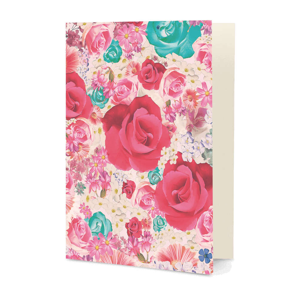 DailyObjects Beautiful Roses A5 Greeting Card