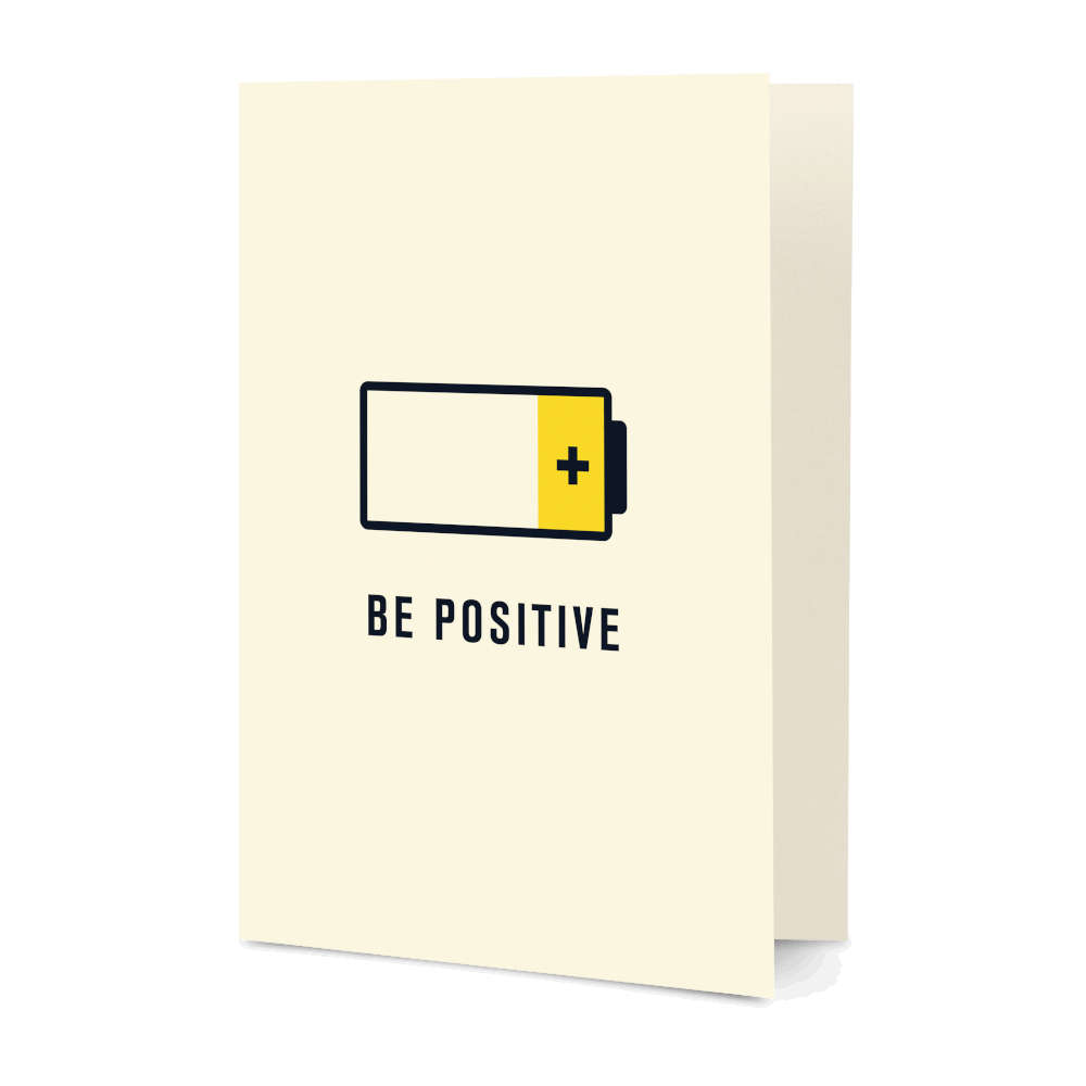 DailyObjects Be Positive Pun A5 Greeting Card