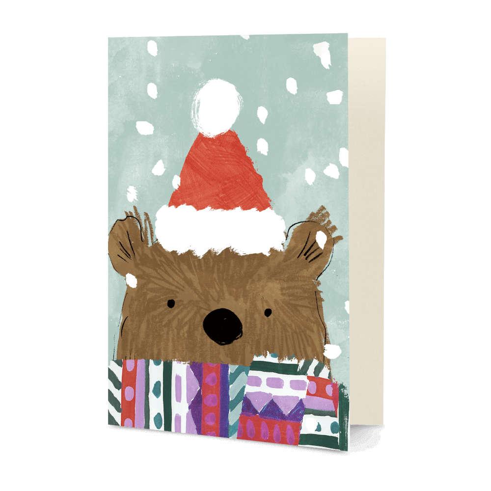 DailyObjects Christmas Bear A5 Greeting Card