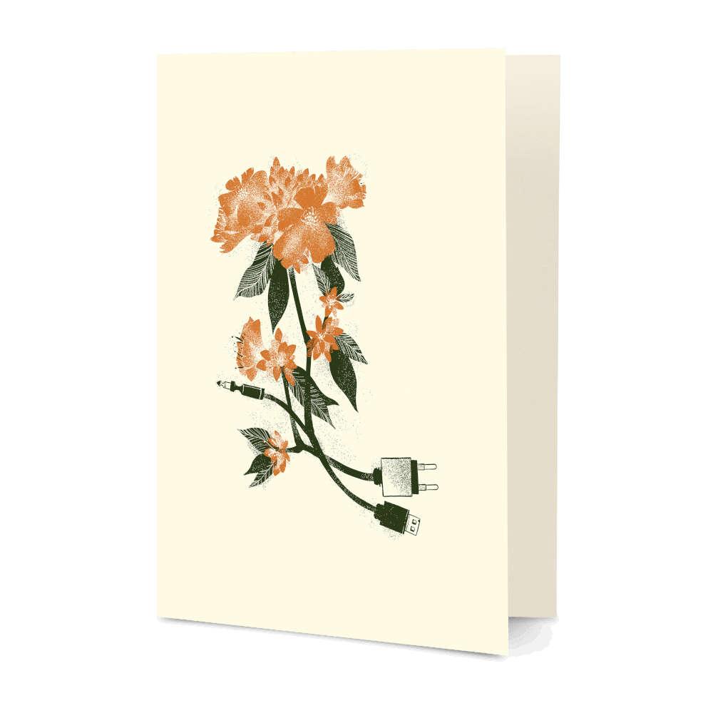 DailyObjects Digital Flower A5 Greeting Card