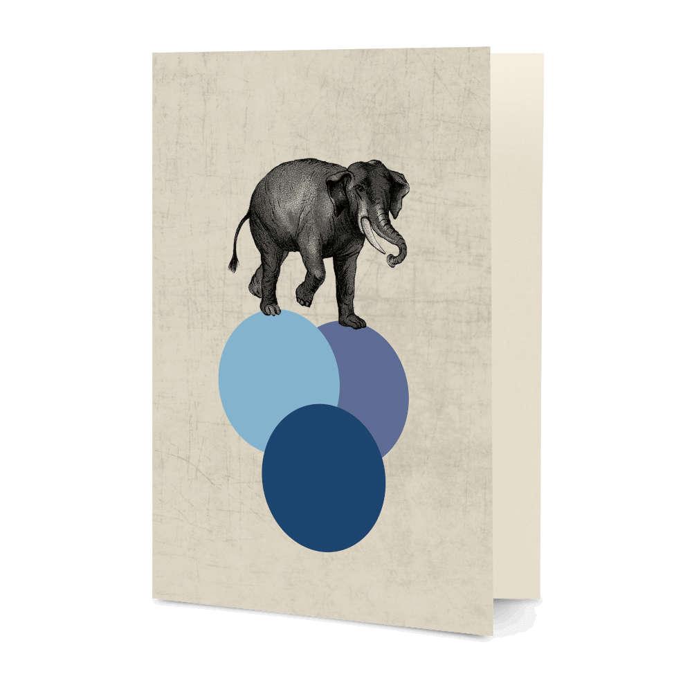 DailyObjects Elephant Balance A5 Greeting Card