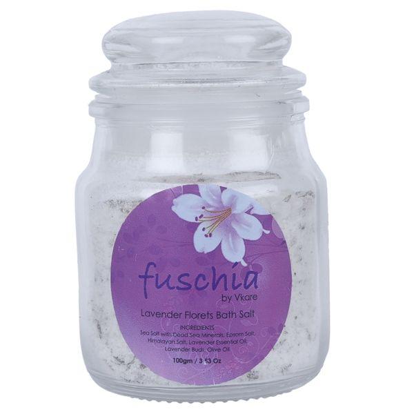 Fuschia Lavender Florets Bath Salt