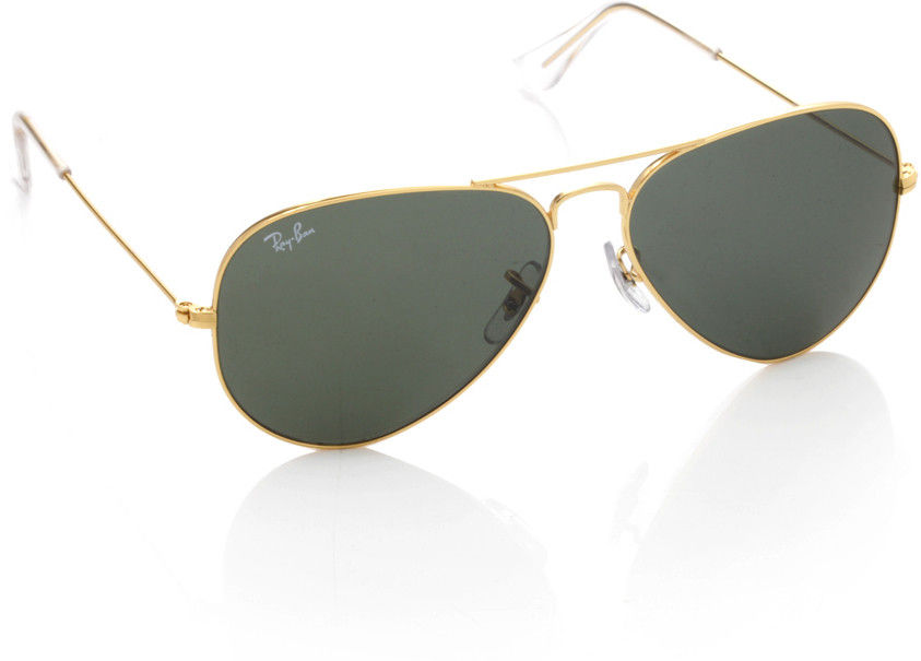 Ray-Ban Green Aviator Sunglasses - RB3025 L0205 58-14