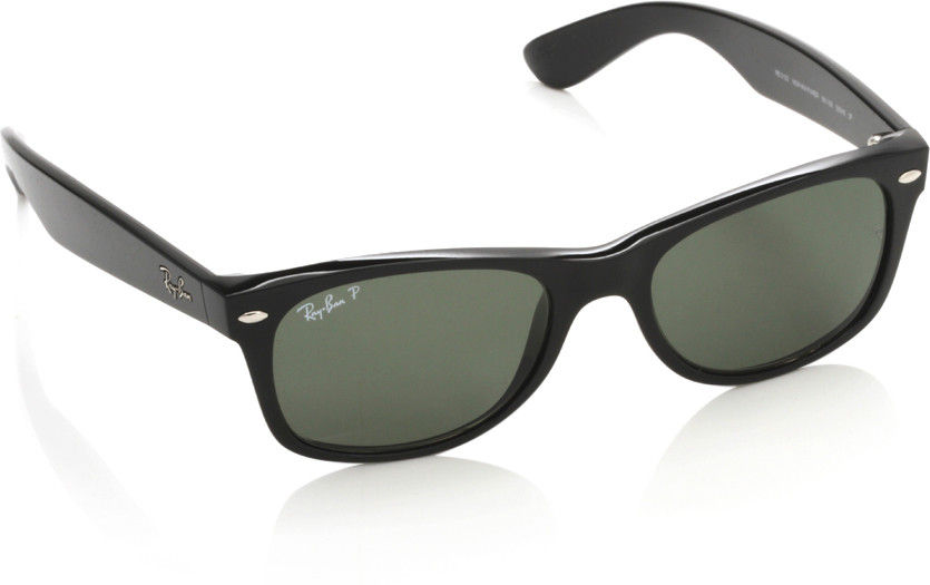 Ray-Ban Green Polarized Wayfarer Sunglasses - RB2132 901/58 55-18