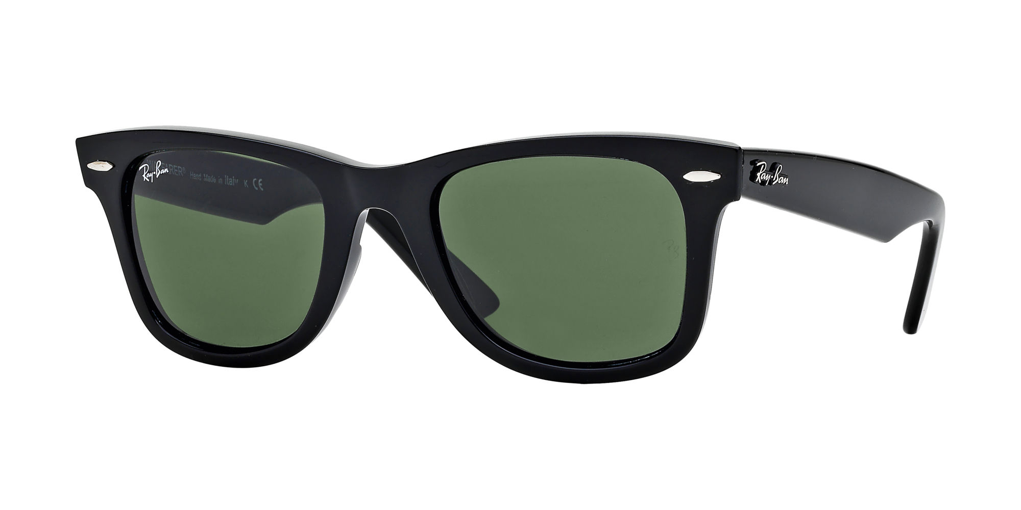 Ray-Ban Green Polarized Wayfarer Sunglasses - RB2140 901/58 54-18