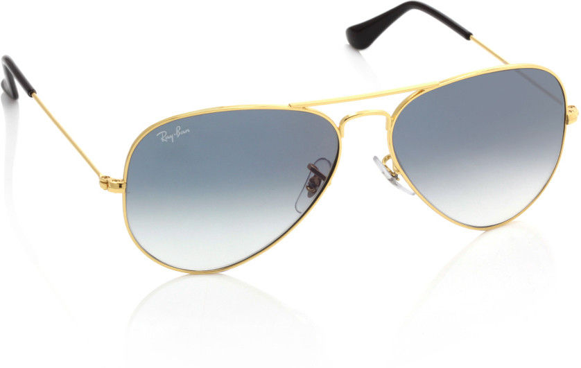 Ray-Ban Blue Aviator Sunglasses - RB3025 001/3F 58-14