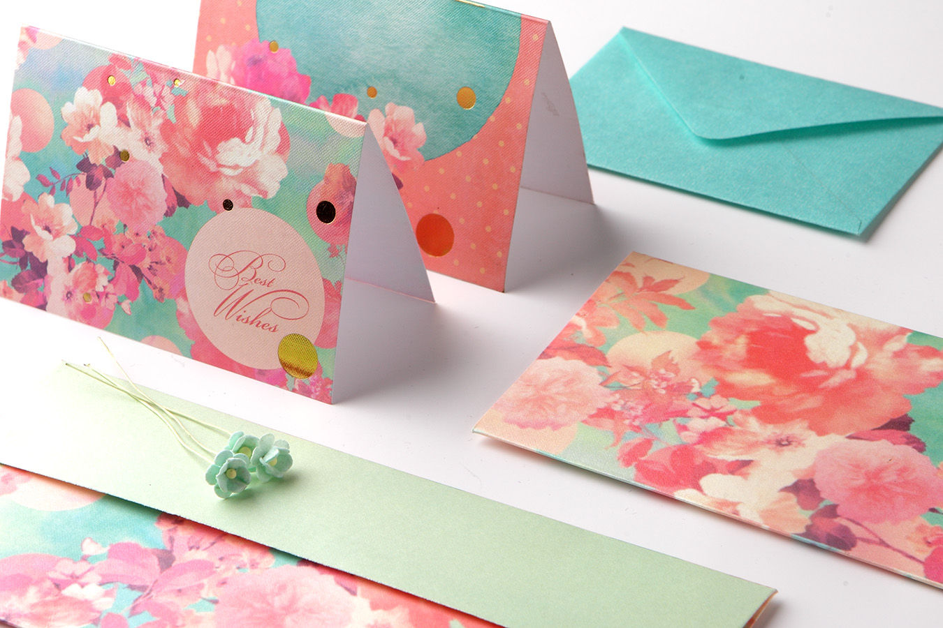 PaperPlanes Summer Mist Personal Stationery Set