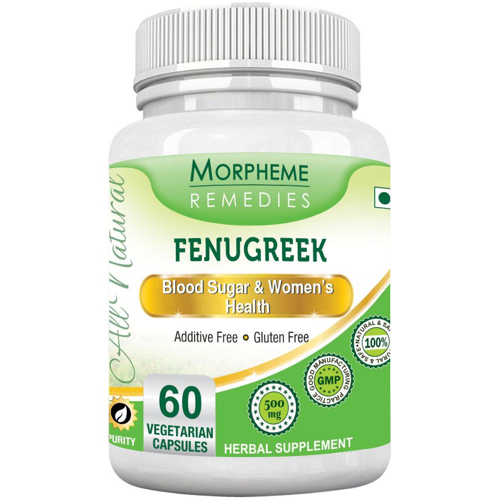 Morpheme Remedies Fenugreek Capsules For Glucose Balance & Women's Health - 500mg Extract