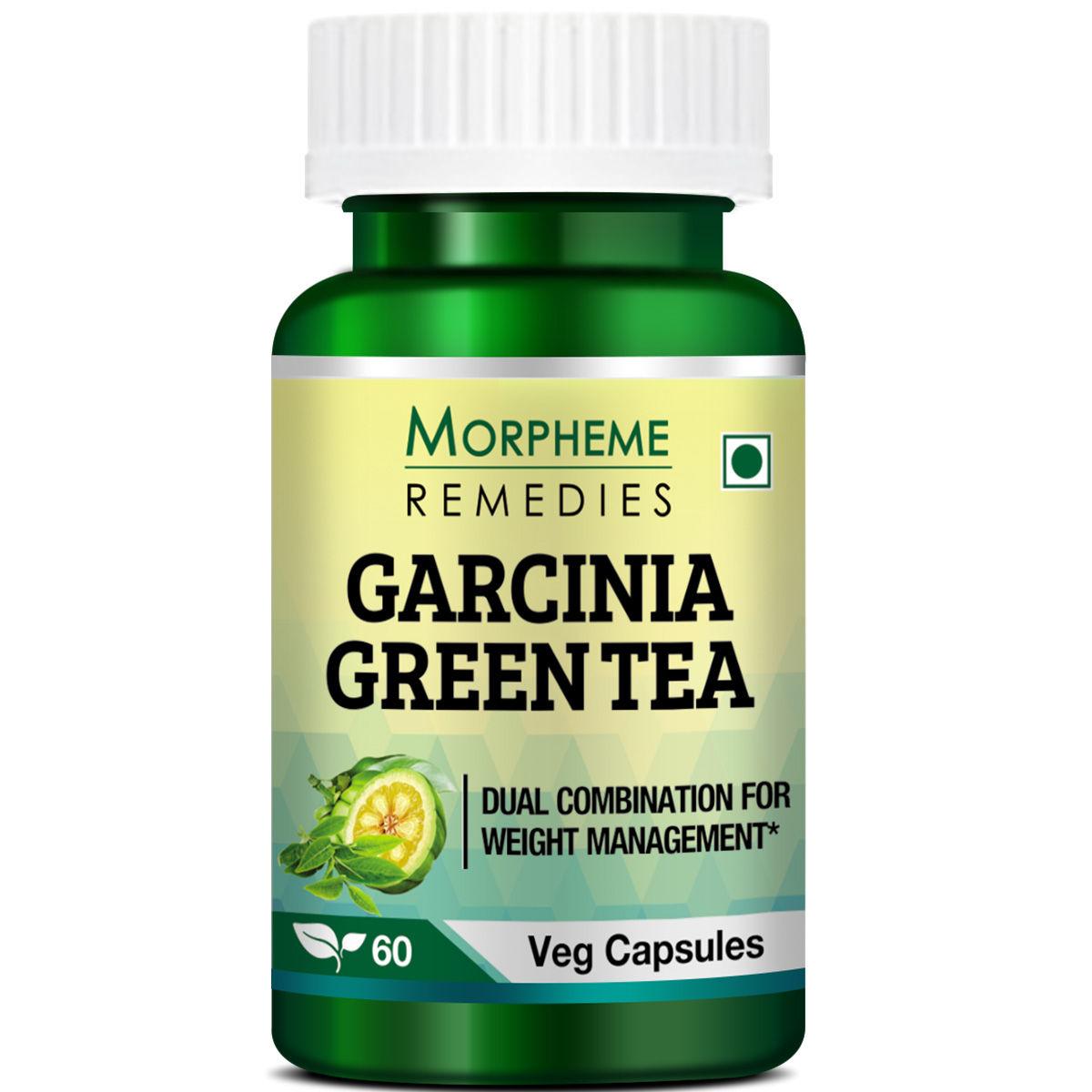 Morpheme Remedies Garcinia Cambogia Green Tea - Fat Burner Supplements - 500mg Extract