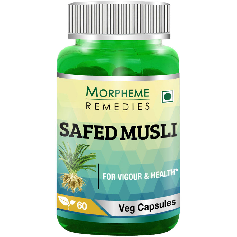 Morpheme Remedies Safed Musli Capsules For Sexual Health - 500mg Extract