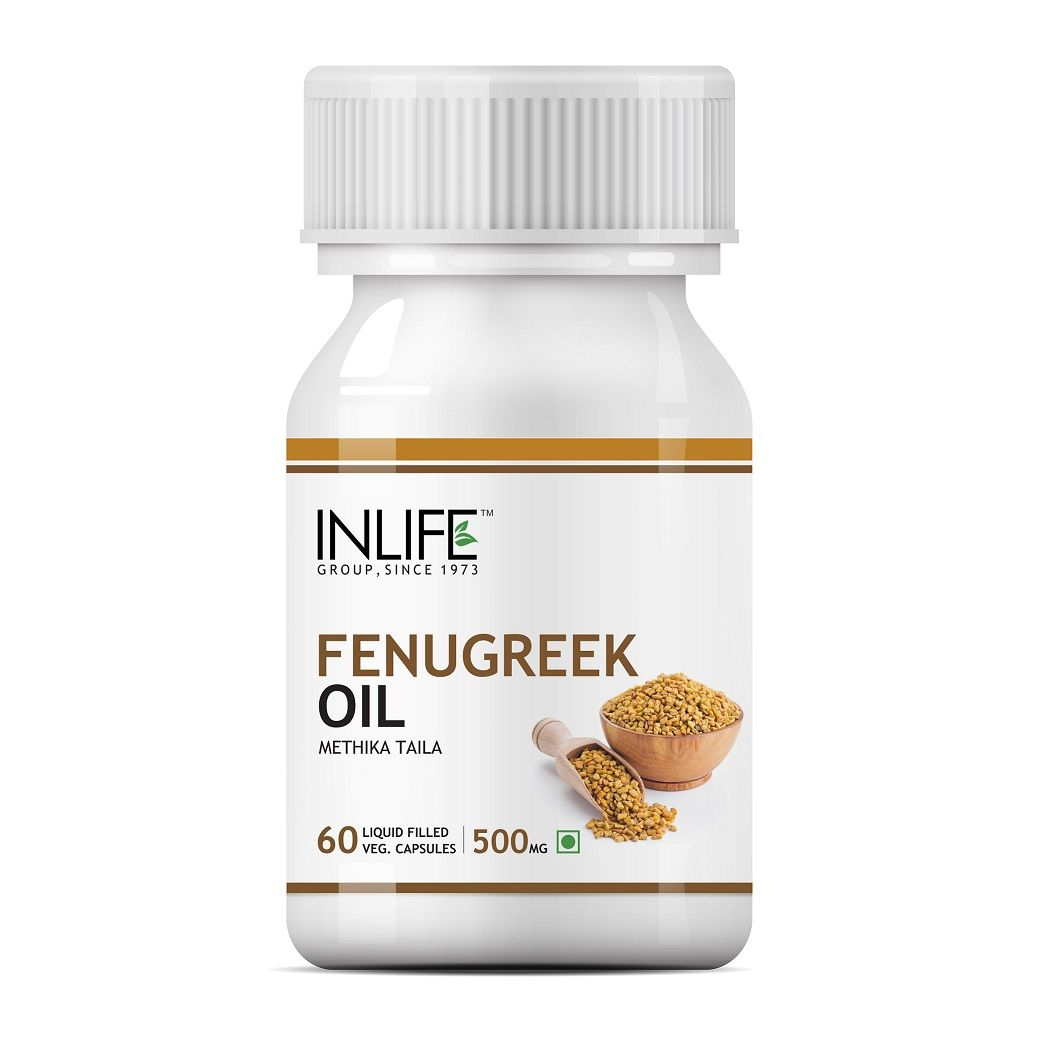 INLIFE Fenugreek Seed Oil 60 Vegetarian Capsules Sugar Balance and Womens Health