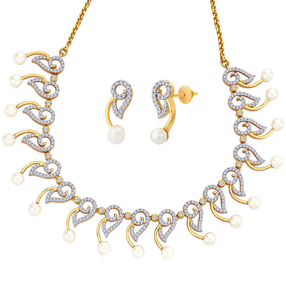 Peora Desire - 18 Karat Gold Plated Necklace Earrings Set