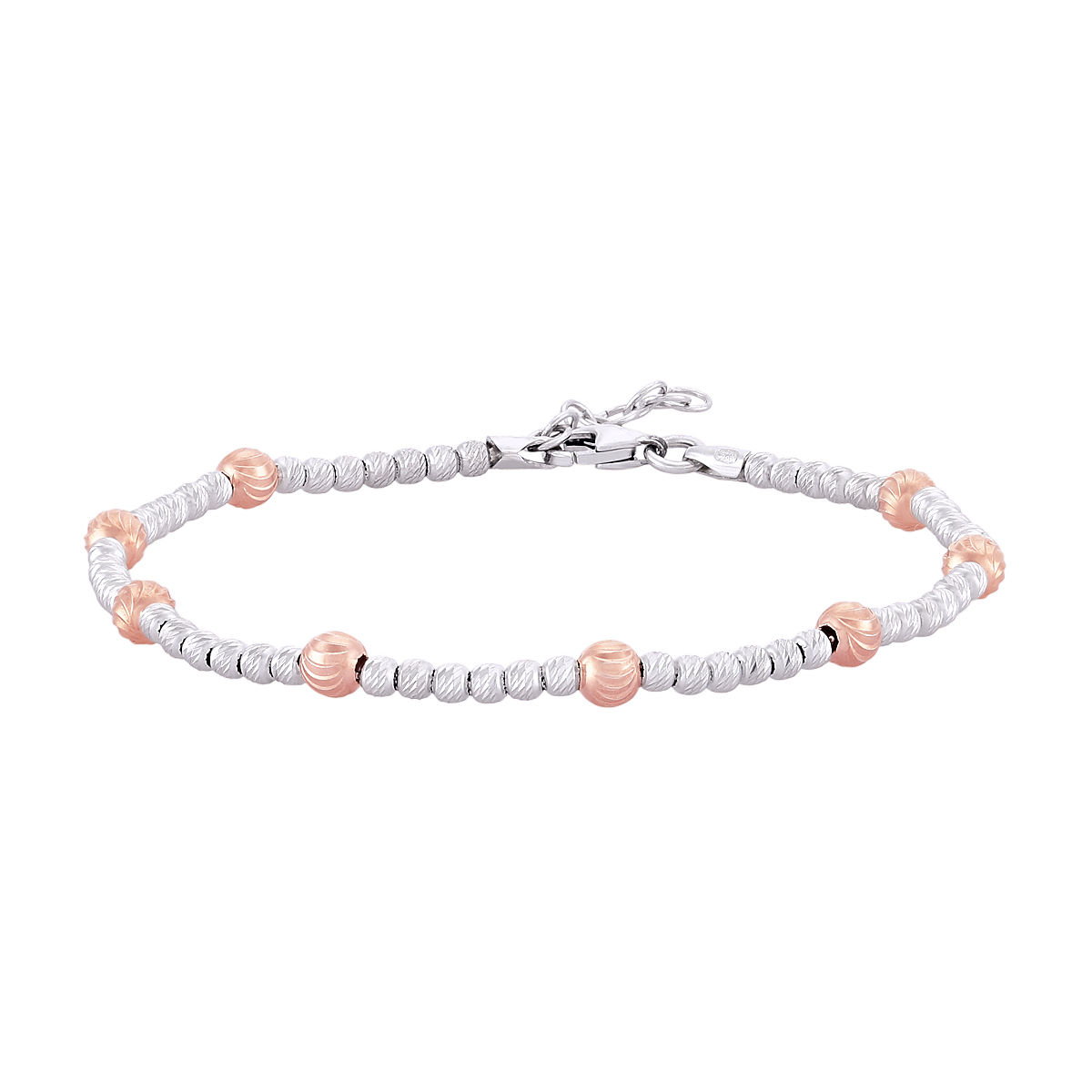 Peora Rose Gold Beaded Bracelet