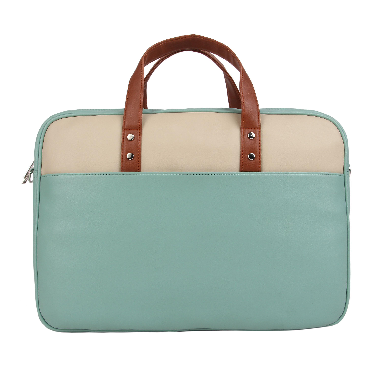 Toteteca Colorblock Laptop Bag - Green