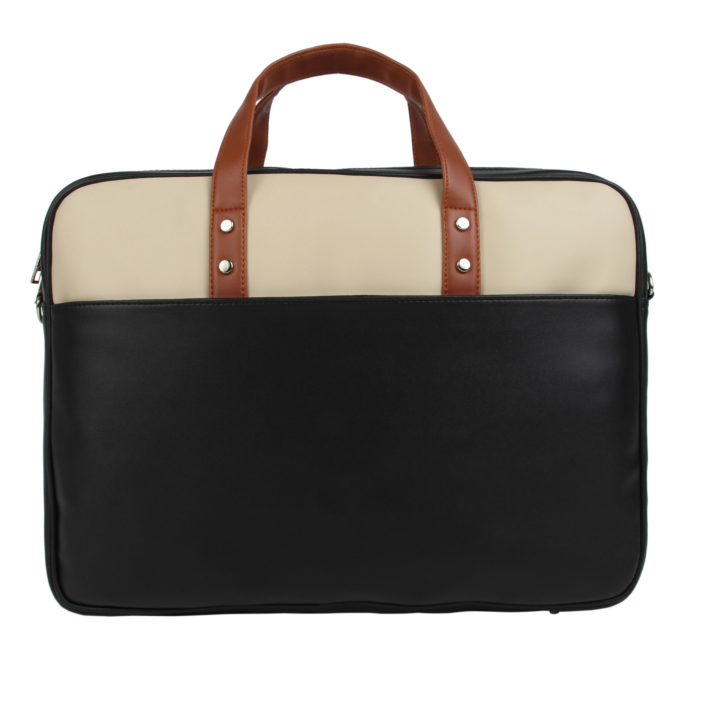 Toteteca Colorblock Laptop Bag - Black