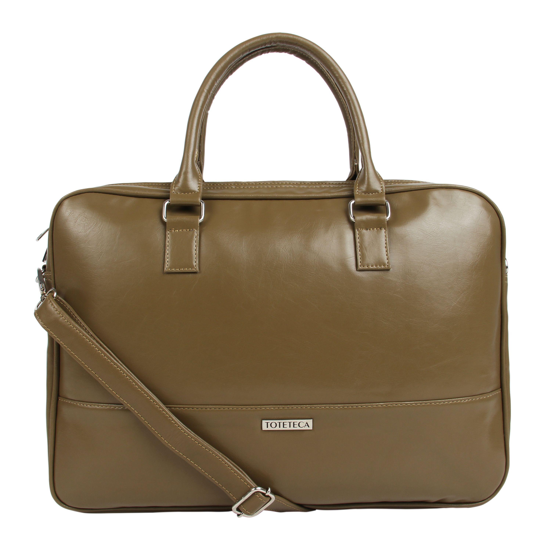 Toteteca Simple Laptop Bag - Beige