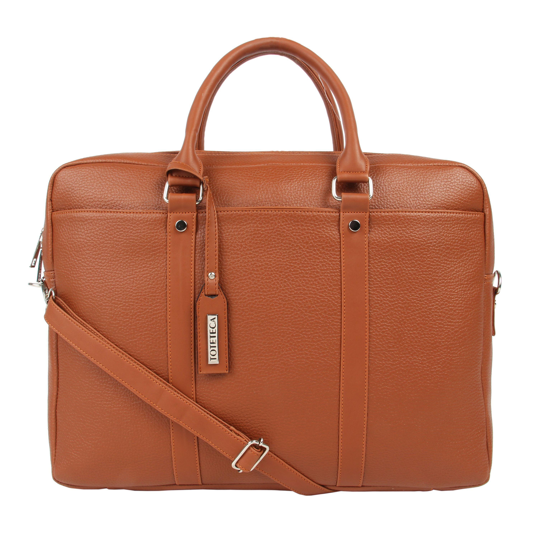 Toteteca Double Zip Laptop Bag - Brown