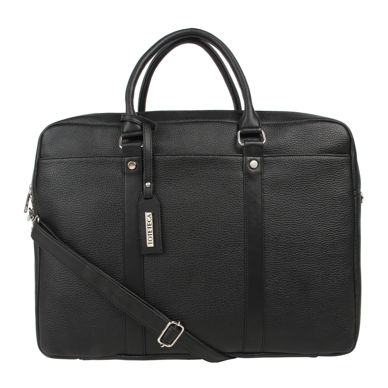 Toteteca Double Zip Laptop Bag - Black