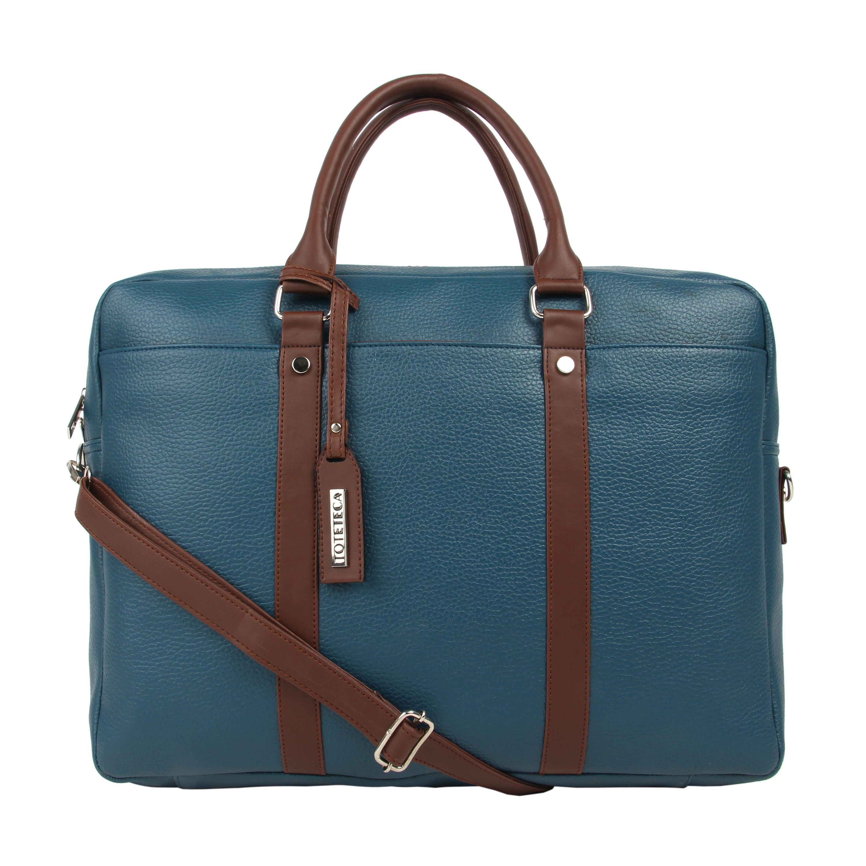 Toteteca Double Zip Laptop Bag - Blue
