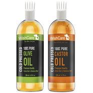 Wishcare Cold Pressed Castor & Olive Carrier Oil